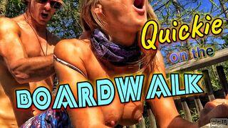 Quickie on a boardwalk